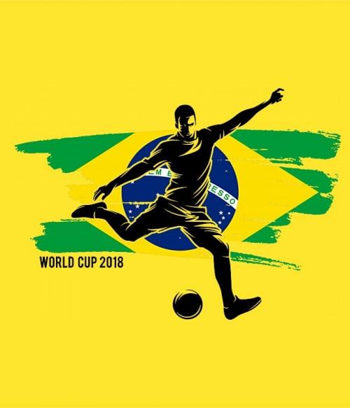 World Cup Flag Player Brazil Póló - Ha Football rajongó ezeket a pólókat tuti imádni fogod!