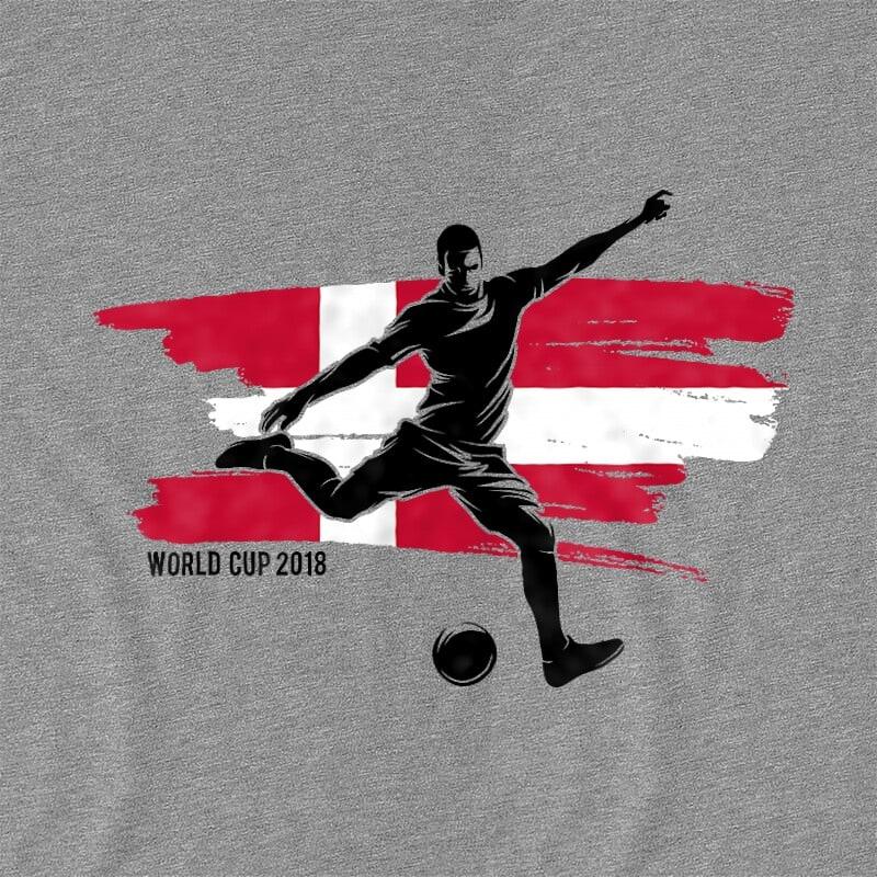World Cup Flag Player Denmark Póló - Ha Football rajongó ezeket a pólókat tuti imádni fogod!