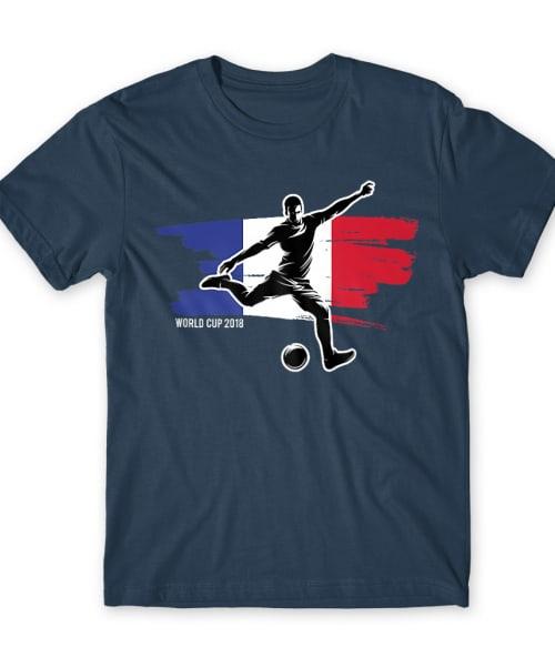 World Cup Flag Player France Póló - Ha Football rajongó ezeket a pólókat tuti imádni fogod!