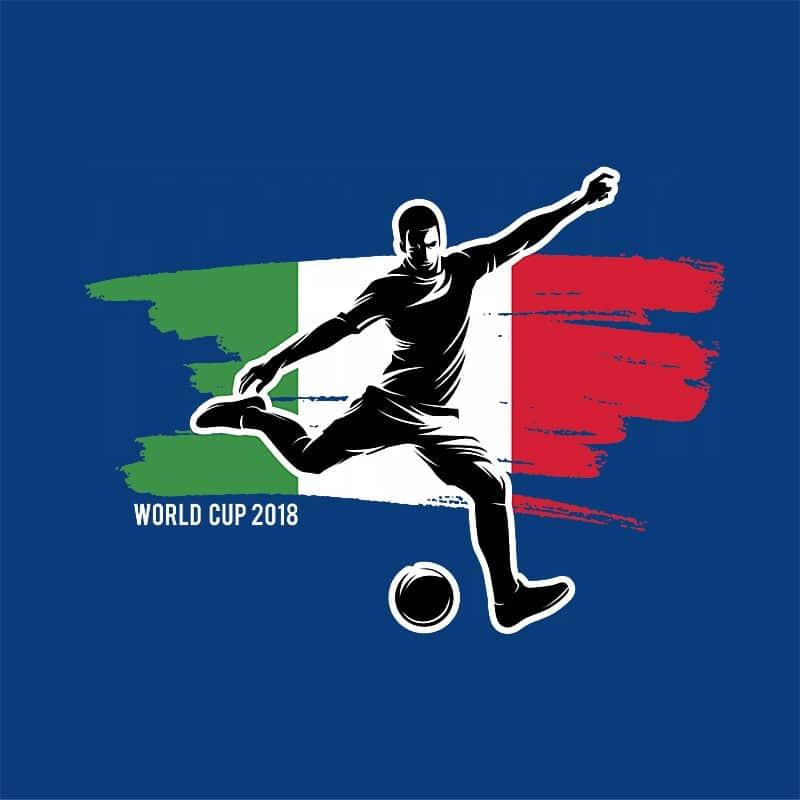 World Cup Flag Player Italy Póló - Ha Football rajongó ezeket a pólókat tuti imádni fogod!