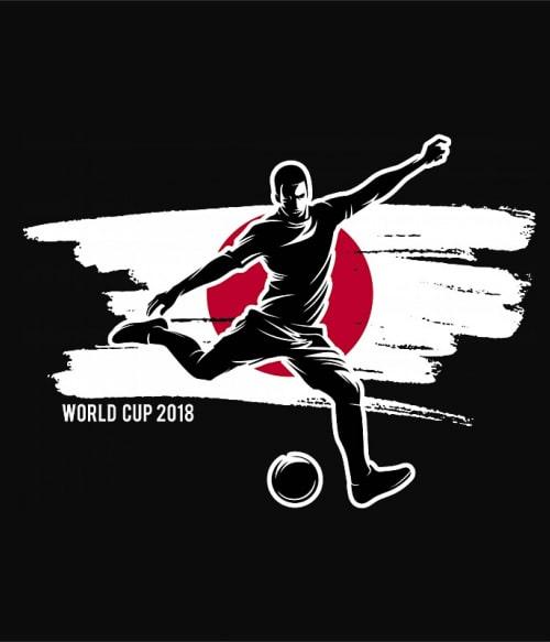 World Cup Flag Player Japan Póló - Ha Football rajongó ezeket a pólókat tuti imádni fogod!