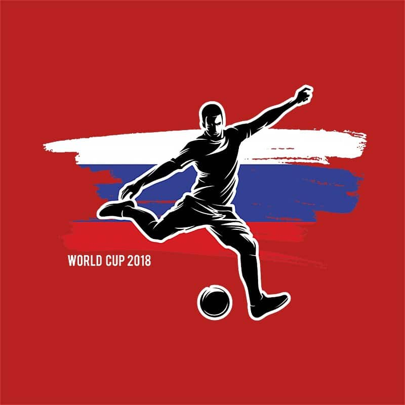 World Cup Flag Player Russia Póló - Ha Football rajongó ezeket a pólókat tuti imádni fogod!
