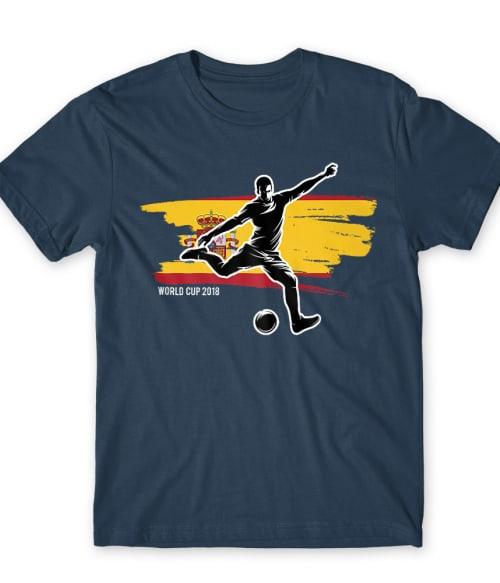World Cup Flag Player Spain Póló - Ha Football rajongó ezeket a pólókat tuti imádni fogod!