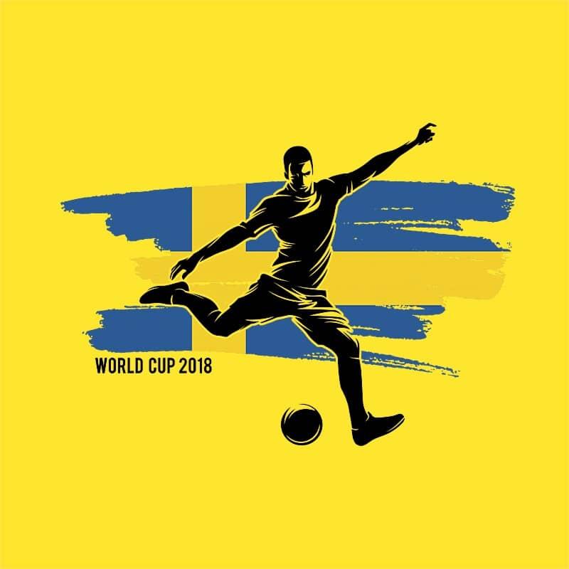 World Cup Flag Player Sweden Póló - Ha Football rajongó ezeket a pólókat tuti imádni fogod!