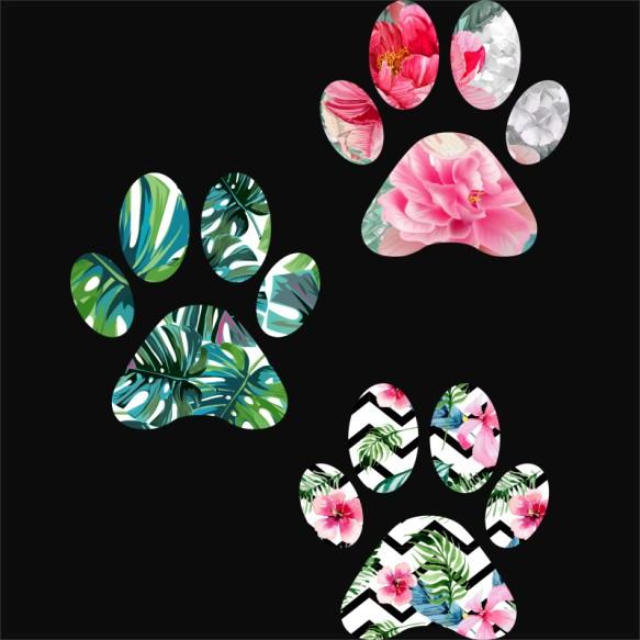 Flower paws Póló - Ha Dog rajongó ezeket a pólókat tuti imádni fogod!