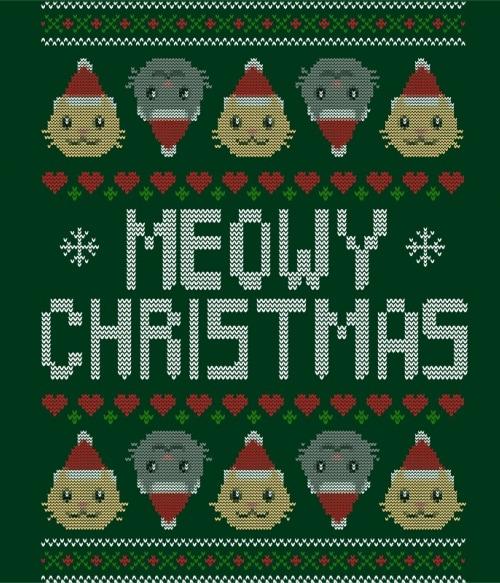 Meowy Christmas Póló - Ha Cat rajongó ezeket a pólókat tuti imádni fogod!