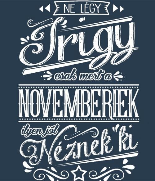 Ne légy Irigy November Póló - Ha Birthday rajongó ezeket a pólókat tuti imádni fogod!