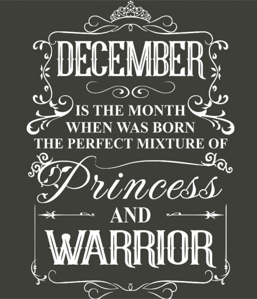 Princess Warrior December Póló - Ha Birthday rajongó ezeket a pólókat tuti imádni fogod!