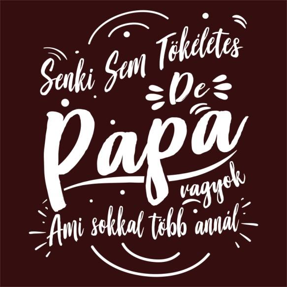 Senki sem tökéletes de Papa vagyok Póló - Ha Family rajongó ezeket a pólókat tuti imádni fogod!