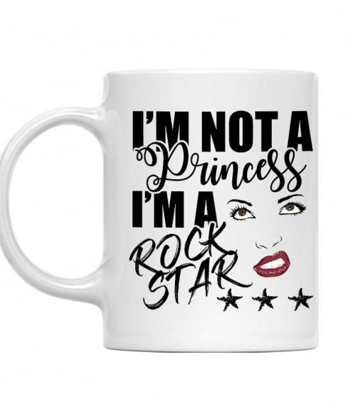 I am not a princess - rock star Póló - Ha Rocker rajongó ezeket a pólókat tuti imádni fogod!