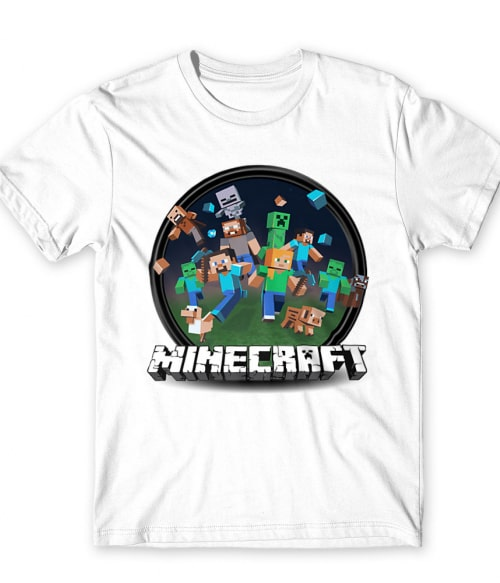 Kerek Minecraft logó 2 Póló - Ha Minecraft rajongó ezeket a pólókat tuti imádni fogod!