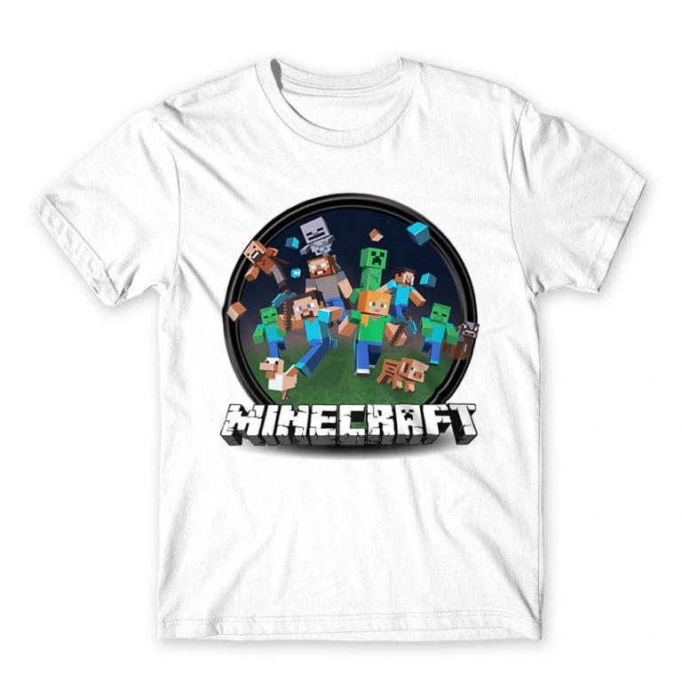 b5fbf10a1b Kerek Minecraft logó 2 Póló - Minecraft