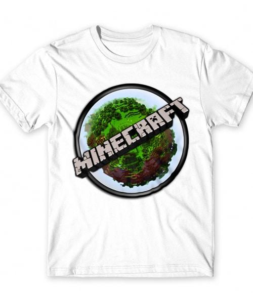 Kerek Minecraft logó Póló - Ha Minecraft rajongó ezeket a pólókat tuti imádni fogod!