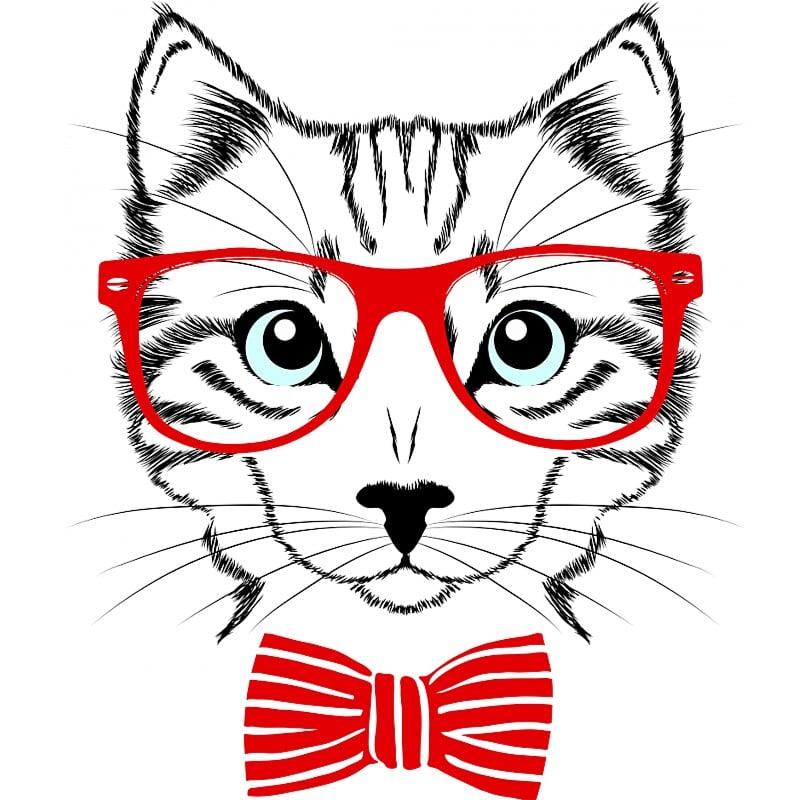 Hipszter cica Póló - Ha Cat rajongó ezeket a pólókat tuti imádni fogod!