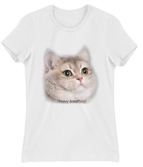 Heavy Breathing Cat Póló - Ha Meme rajongó ezeket a pólókat tuti imádni fogod!