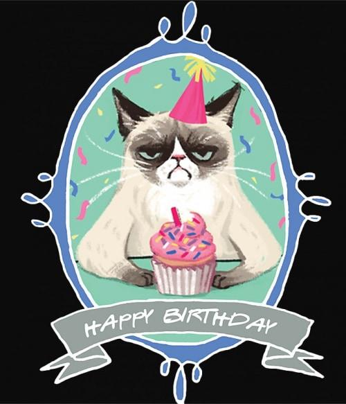 Grumpy Cat Birthday Póló - Ha Meme rajongó ezeket a pólókat tuti imádni fogod!