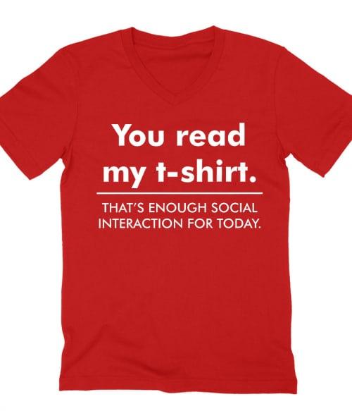 You Read My T-shirt... Póló - Ha Fun rajongó ezeket a pólókat tuti imádni fogod!