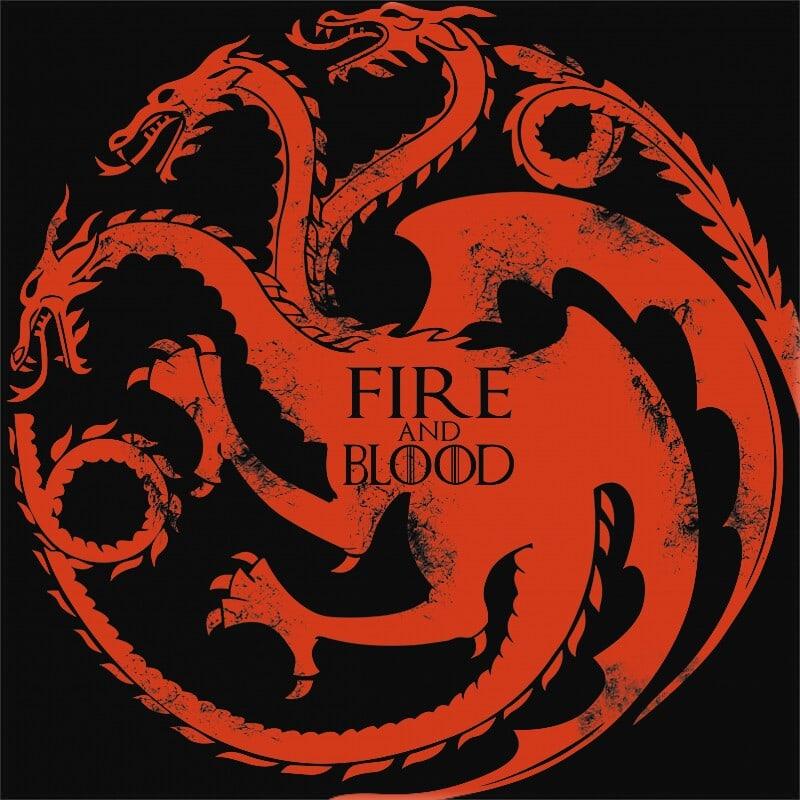 Targaryen logó Póló - Ha Game of Thrones rajongó ezeket a pólókat tuti imádni fogod!