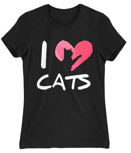 Szeretem a macskákat Póló - Ha Cat rajongó ezeket a pólókat tuti imádni fogod!