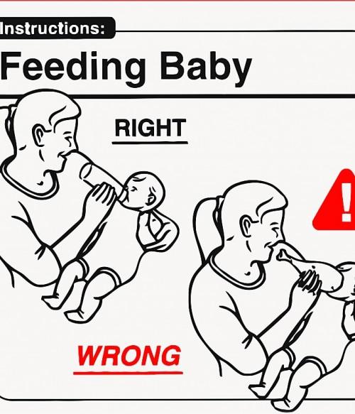 Baby Instructions – Etetés Póló - Ha Baby rajongó ezeket a pólókat tuti imádni fogod!