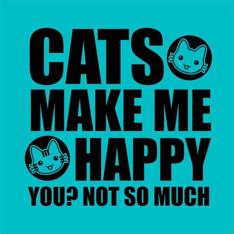 A cicák boldoggá tesznek Póló - Ha Cat rajongó ezeket a pólókat tuti imádni fogod!