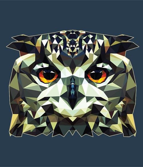 Polygon Bagoly Póló - Ha Animal rajongó ezeket a pólókat tuti imádni fogod!