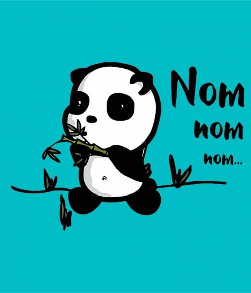 Nom-nom Panda Póló - Ha Animal rajongó ezeket a pólókat tuti imádni fogod!