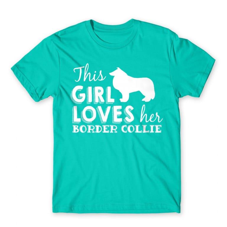 c222b624f8 Ez a lány imádja a border collie-ját Póló - Dog