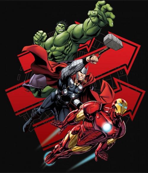 Avengers Trio Póló - Ha Avengers rajongó ezeket a pólókat tuti imádni fogod!