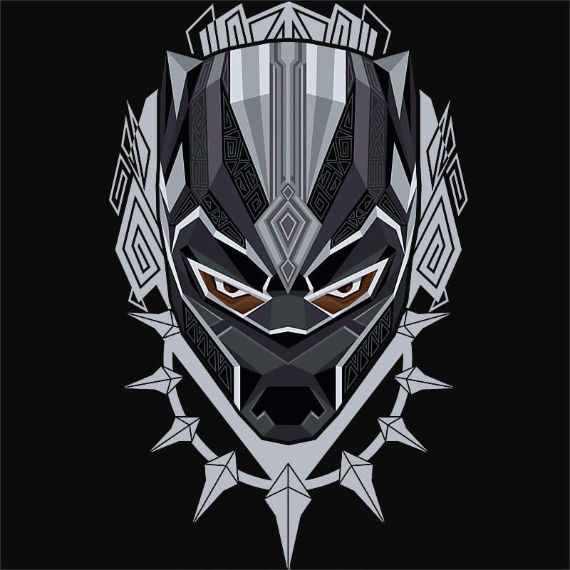 Black Panther Head Póló - Ha Black Panther rajongó ezeket a pólókat tuti imádni fogod!