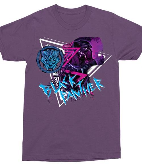 Neon Panther Badge Póló - Ha Black Panther rajongó ezeket a pólókat tuti imádni fogod!