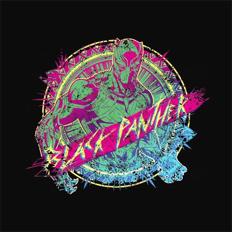 Jungle badge Póló - Ha Black Panther rajongó ezeket a pólókat tuti imádni fogod!