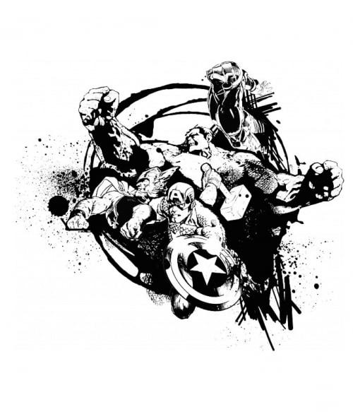 Avengers Team Splash Póló - Ha Avengers rajongó ezeket a pólókat tuti imádni fogod!