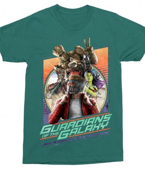 Guardians team retro Póló - Ha Guardians of the Galaxy rajongó ezeket a pólókat tuti imádni fogod!