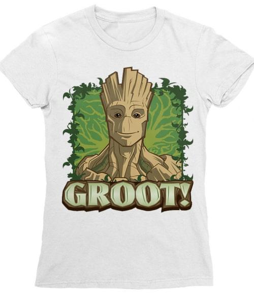 Groot face Póló - Ha Guardians of the Galaxy rajongó ezeket a pólókat tuti imádni fogod!