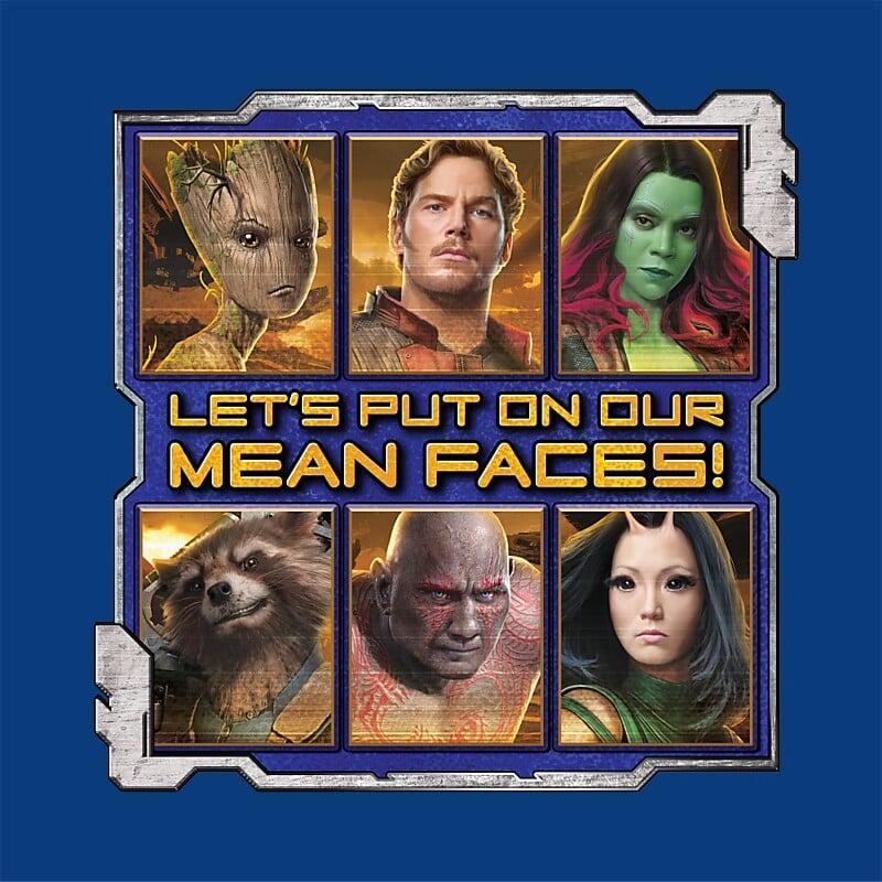 Mean faces Póló - Ha Guardians of the Galaxy rajongó ezeket a pólókat tuti imádni fogod!