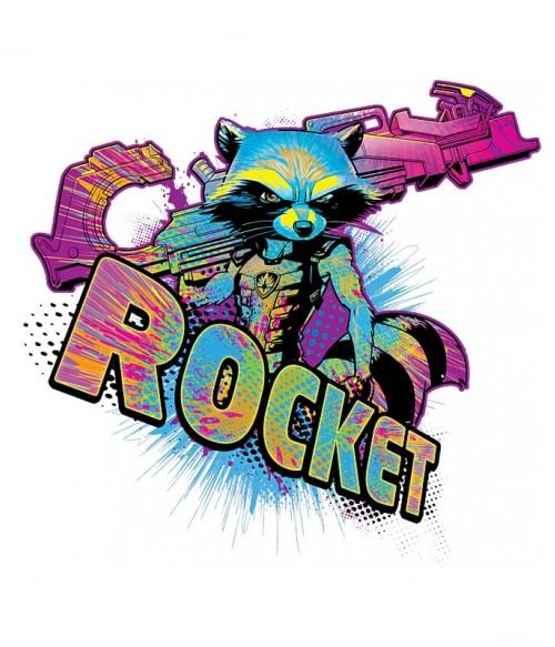 Retro Rocket Póló - Ha Guardians of the Galaxy rajongó ezeket a pólókat tuti imádni fogod!