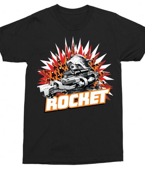 Rocket explosion Póló - Ha Guardians of the Galaxy rajongó ezeket a pólókat tuti imádni fogod!