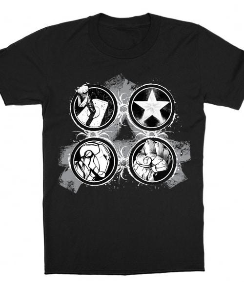 Heroes Splatter Logo Póló - Ha Avengers rajongó ezeket a pólókat tuti imádni fogod!