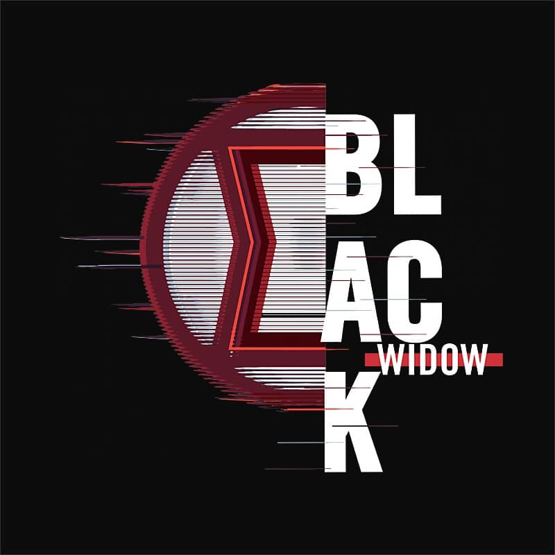 Black Widow Badge Póló - Ha Black Widow rajongó ezeket a pólókat tuti imádni fogod!