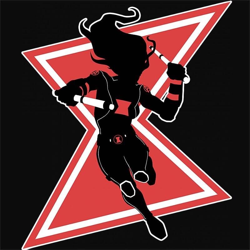 Black Widow Black and Red Póló - Ha Black Widow rajongó ezeket a pólókat tuti imádni fogod!