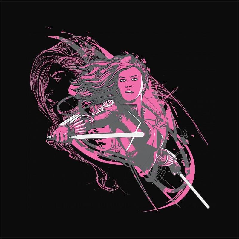 Black Widow in pink Póló - Ha Black Widow rajongó ezeket a pólókat tuti imádni fogod!