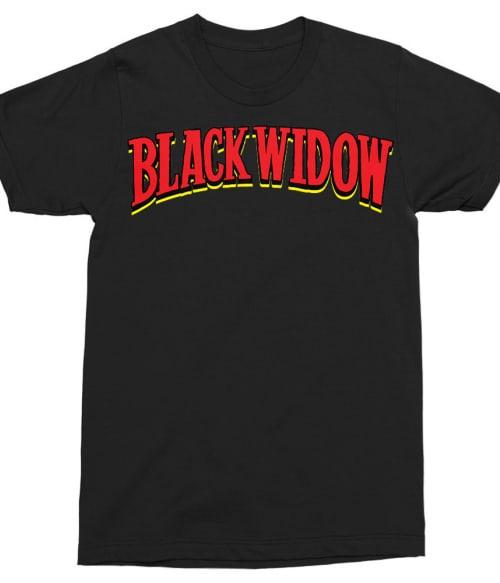 Black Widow retro logo Póló - Ha Black Widow rajongó ezeket a pólókat tuti imádni fogod!