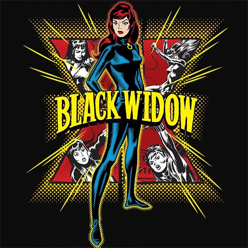 Retro Widow Póló - Ha Black Widow rajongó ezeket a pólókat tuti imádni fogod!