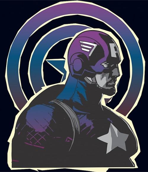 Captain America gradient Póló - Ha Captain America rajongó ezeket a pólókat tuti imádni fogod!