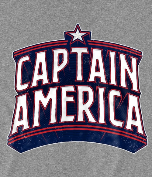 Captain America retro logo Póló - Ha Captain America rajongó ezeket a pólókat tuti imádni fogod!