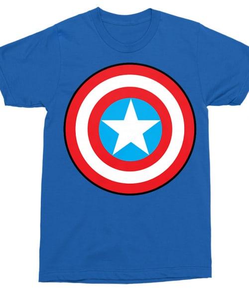 Captain America simple logo Póló - Ha Captain America rajongó ezeket a pólókat tuti imádni fogod!