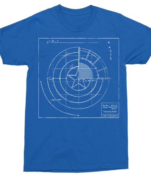 Graphic shield Póló - Ha Captain America rajongó ezeket a pólókat tuti imádni fogod!