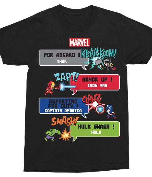 Marvel Heroes 8bit Póló - Ha Captain America rajongó ezeket a pólókat tuti imádni fogod!