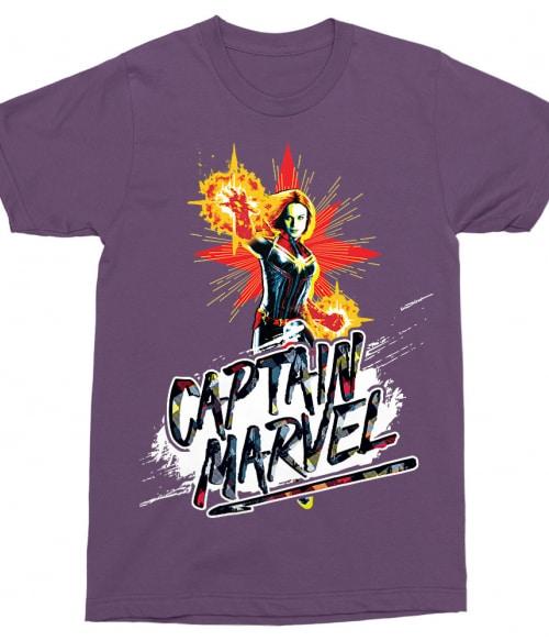 Captain Marvel fight Póló - Ha Captain Marvel rajongó ezeket a pólókat tuti imádni fogod!